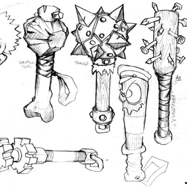 эскиз вооружения