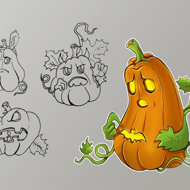 Тыковка в Halloween