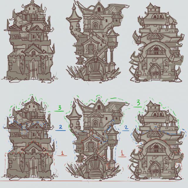Концепт арты замков