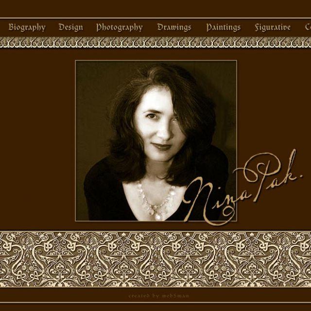 Флеш-сайт фотографа и художника Nina Pak, США