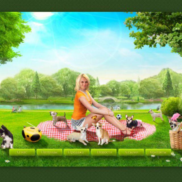 Сайт про собачек