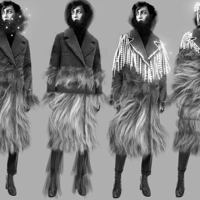 Дизайн зимнего пальто