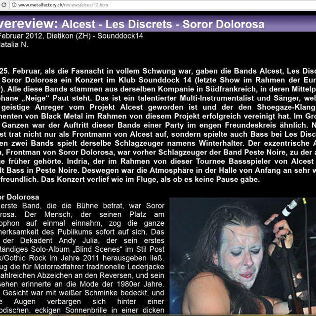 Музыкальный обзор (перевод с русского). Группа Alcest
