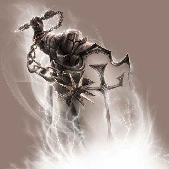 Рисунок игрового персонажа крестоносца