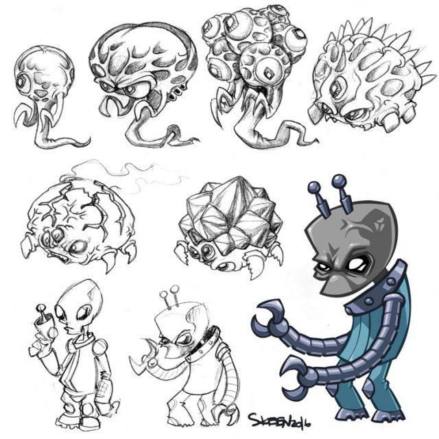 концепты пришельцев