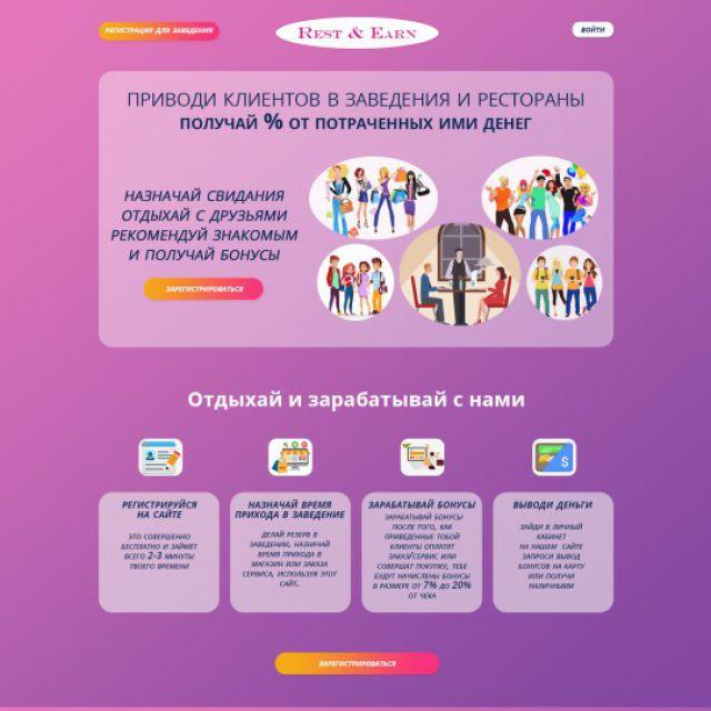 Сервис по сотрудничеству заведений с клиентами