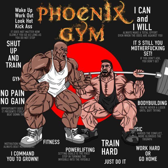 Постер для фитнес-зала
