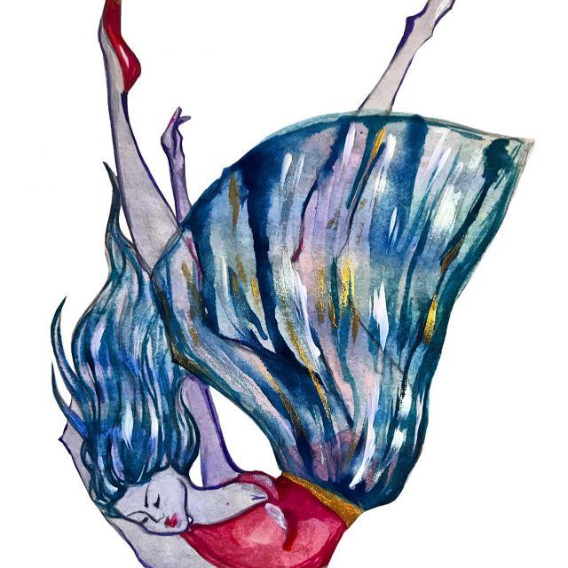 Падающая девушка