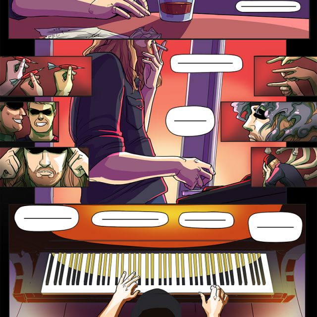 Заказной комикс в подарок музыканту