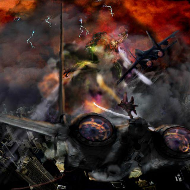 Самолеты и монстр