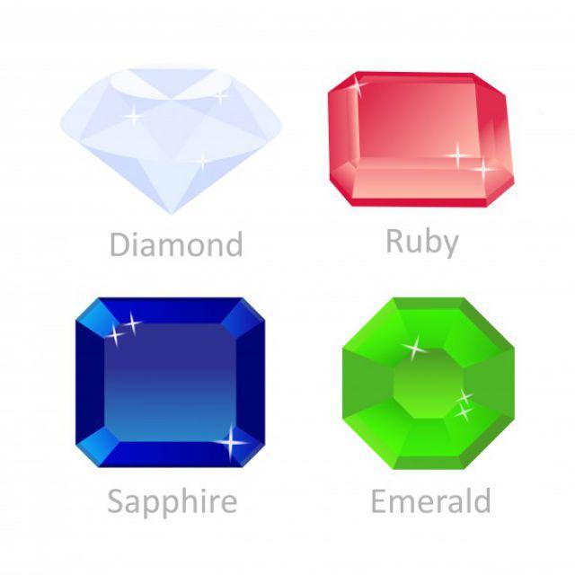 Сет иконок драгоценных камней