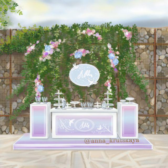 Rэнди бар на свадьбу sketch