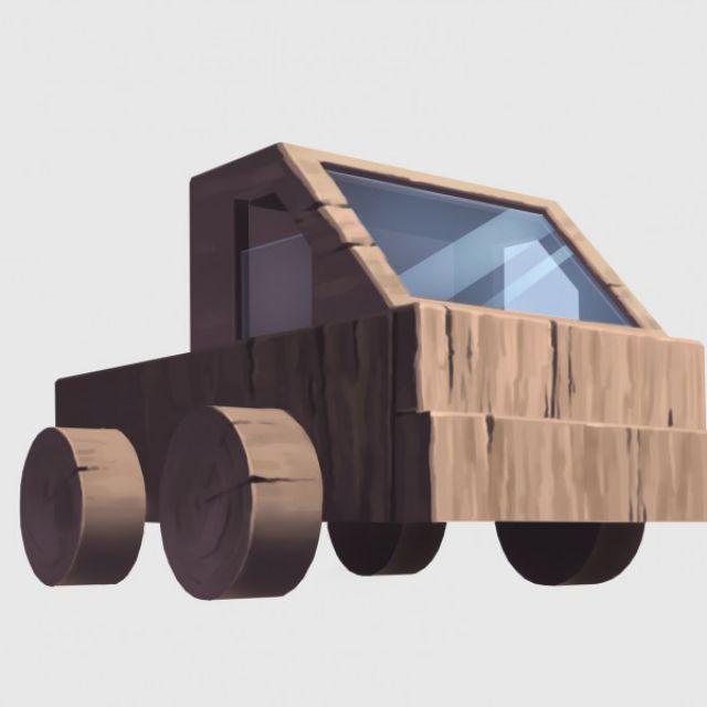 Машинка деревянная , артефакт