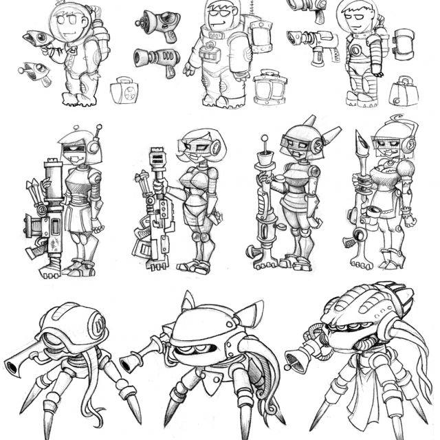концепт персонажей