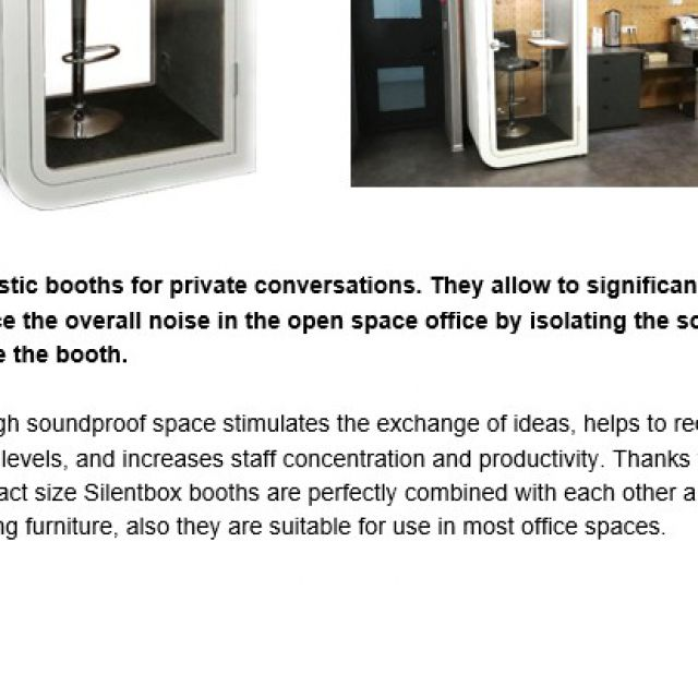 Silentbox Solo Booths
