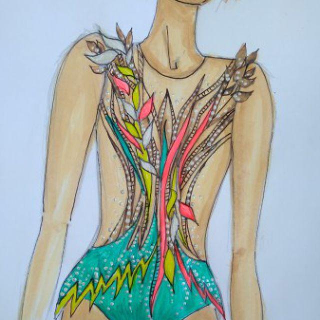 Эскизы купальников для художественной гимнастики