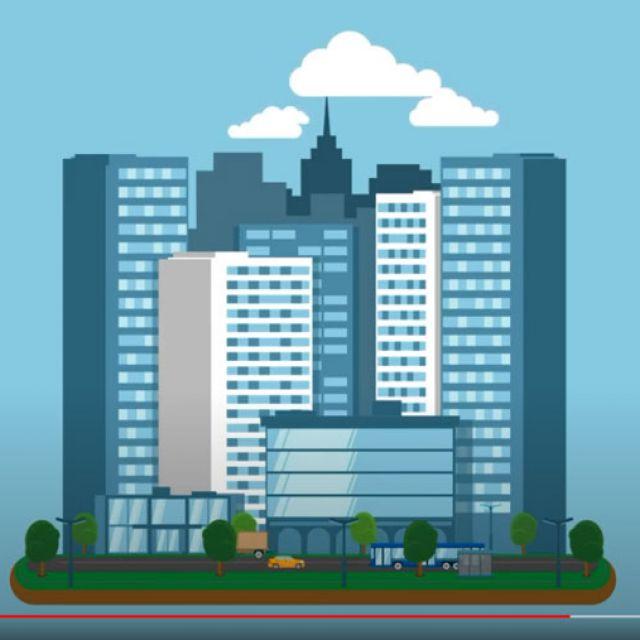 Анимация города