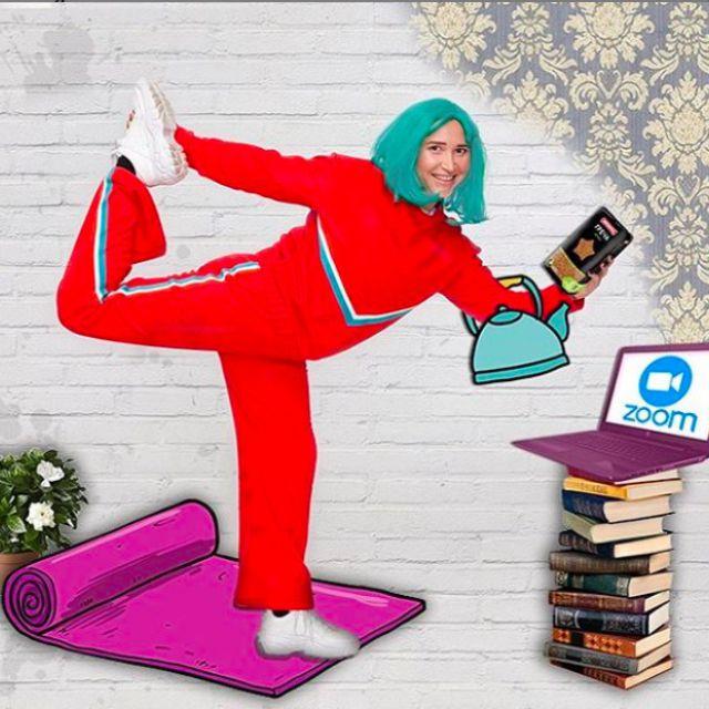 Коллаж: домашние тренировки онлайн