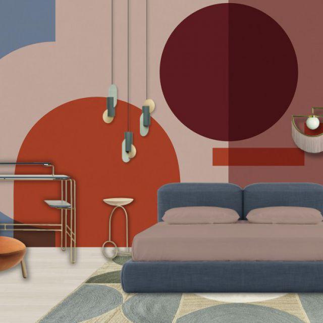 Коллаж интерьера спальни