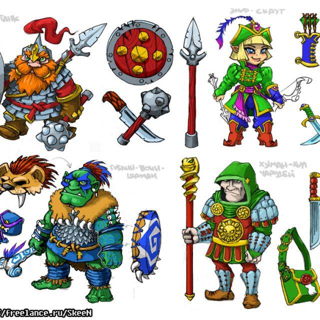 персонажи-концепт