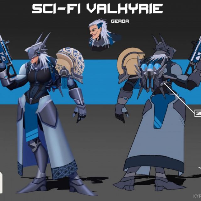 Sci-fi Valkyrie - Gerda