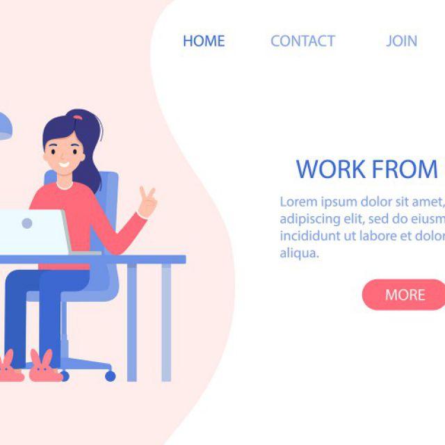 Иллюстрация для сайта во флет стиле