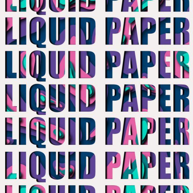 Liquid paper плакат