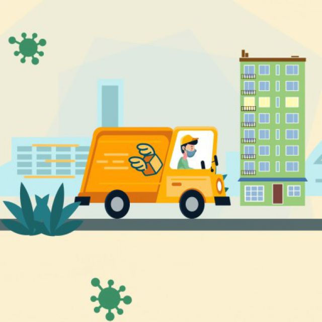Delivery Service promotional 2D motion