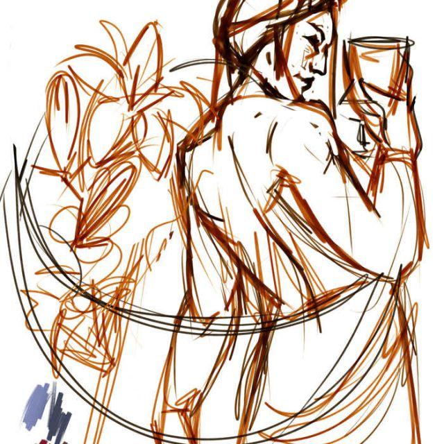 Sketch Queen of cups