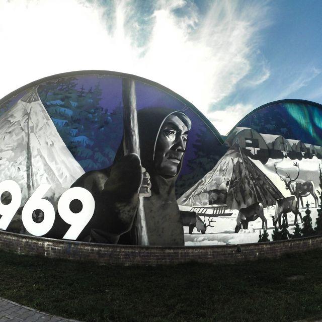 Роспись фасада для администрации Беломорского района