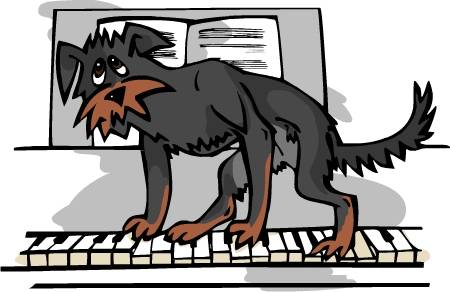 Шла собака по роялю