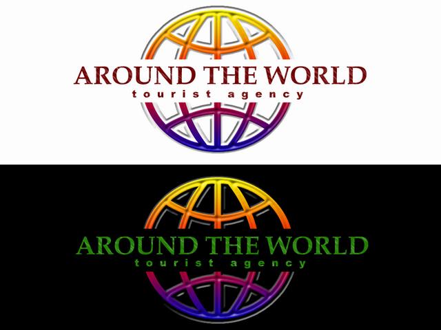 """Логотип туристического агенства """"Around the world"""""""