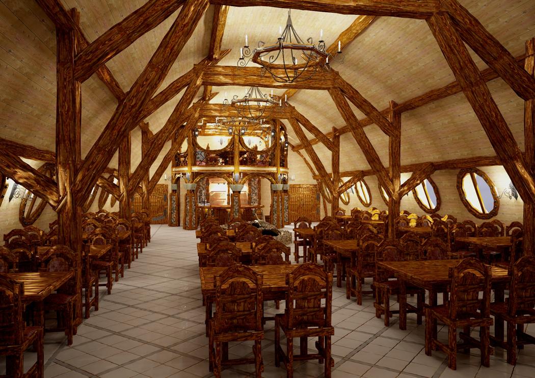 Визуализация обеденного зала