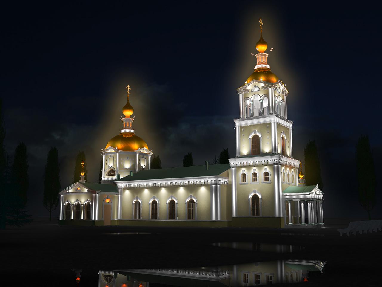 Дизайн ночного освещения в г. Камышин