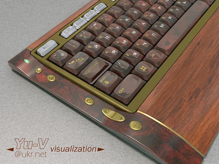 Клавиатура деревянная