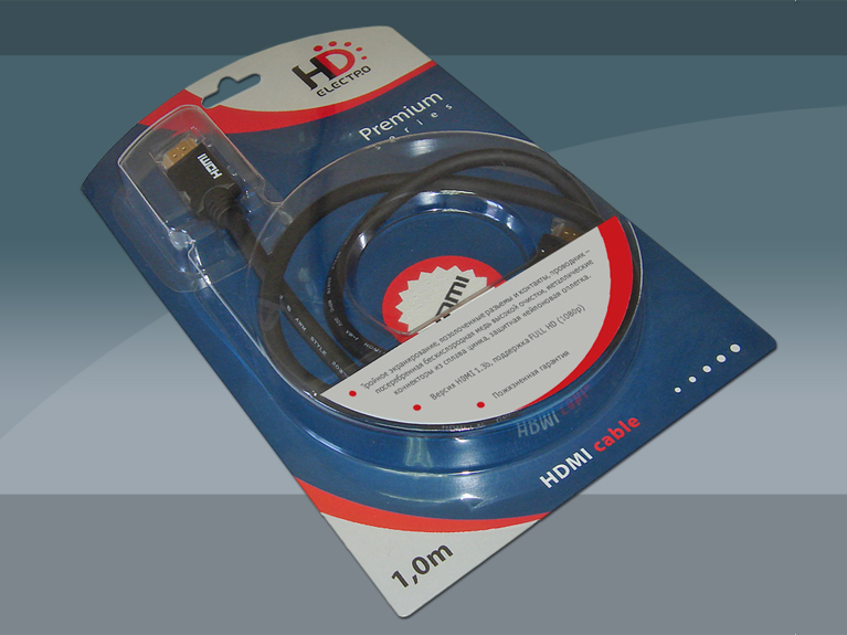 Дизайн серии блистеров HDMI кабеля