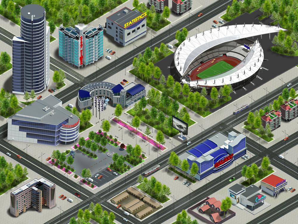 3д город для сайта