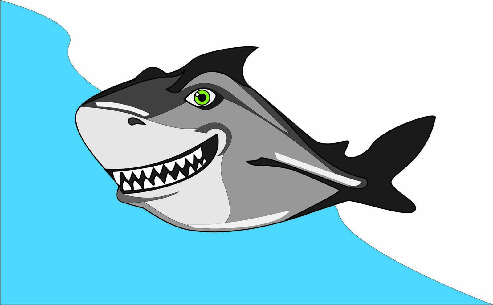 Анимационная картинка акулы