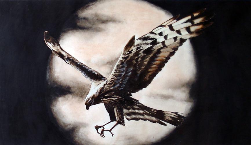 Орел (акварель)