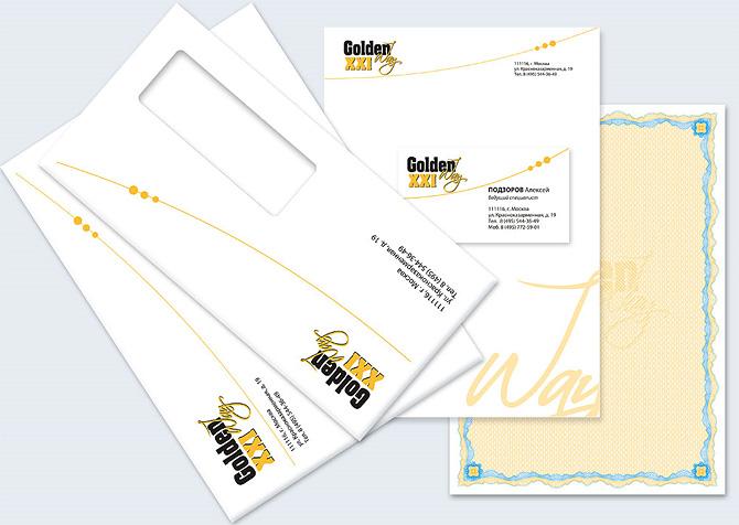 Фирменный стиль Golden Way XXI