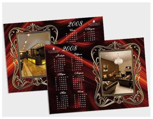 Календарь настольный для отеля