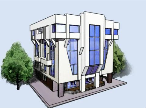 Карандаши рисуют дом