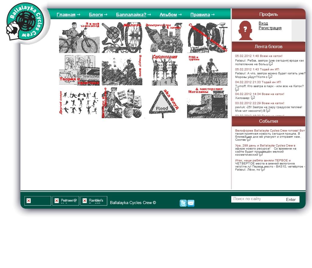 Система блоггина для команды людей, увлеченных велоспортом