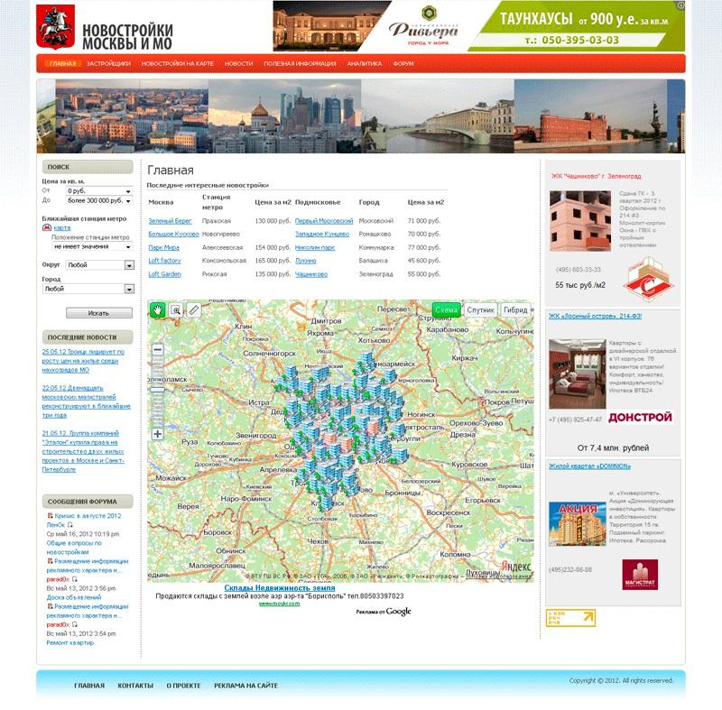 Сайт новостроек Москвы и Московской области