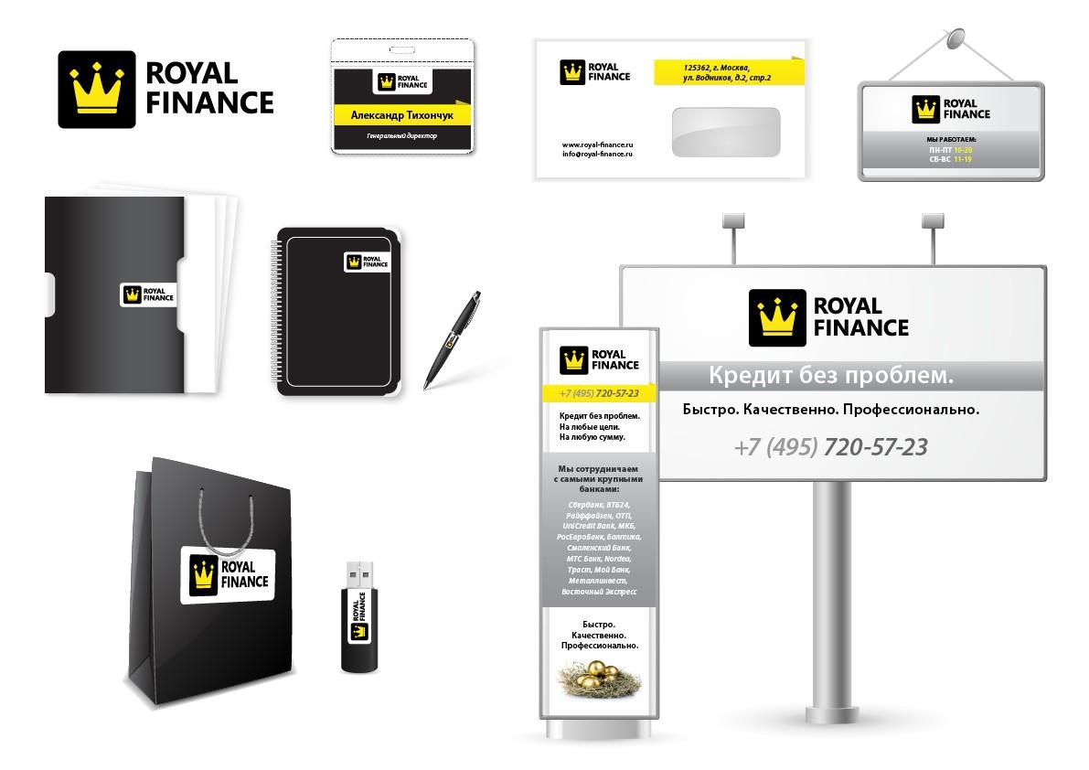 Фирменный стиль компании Royal Finance