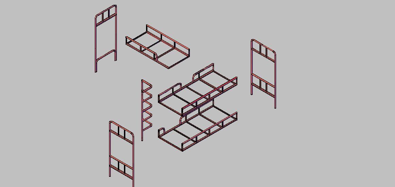 Дизайн и конструктив двухъярусной металлической кровати