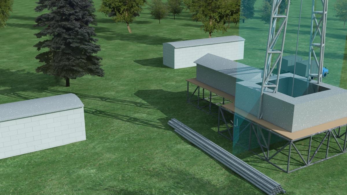 Ролик-иллюстрация процесса бурения нефтяной скважины