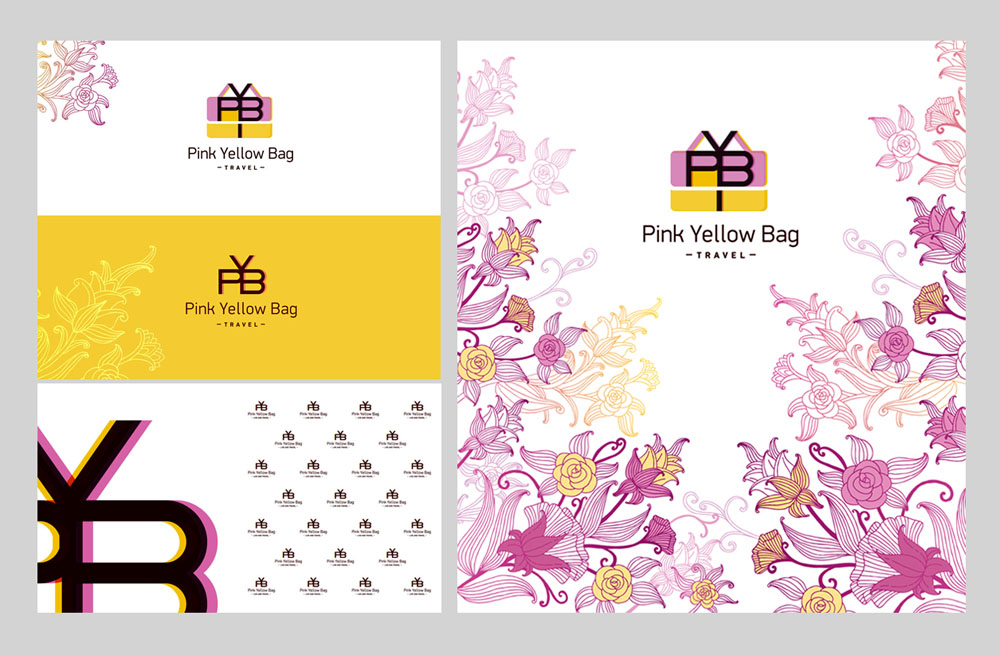 Pink Yellow Bag