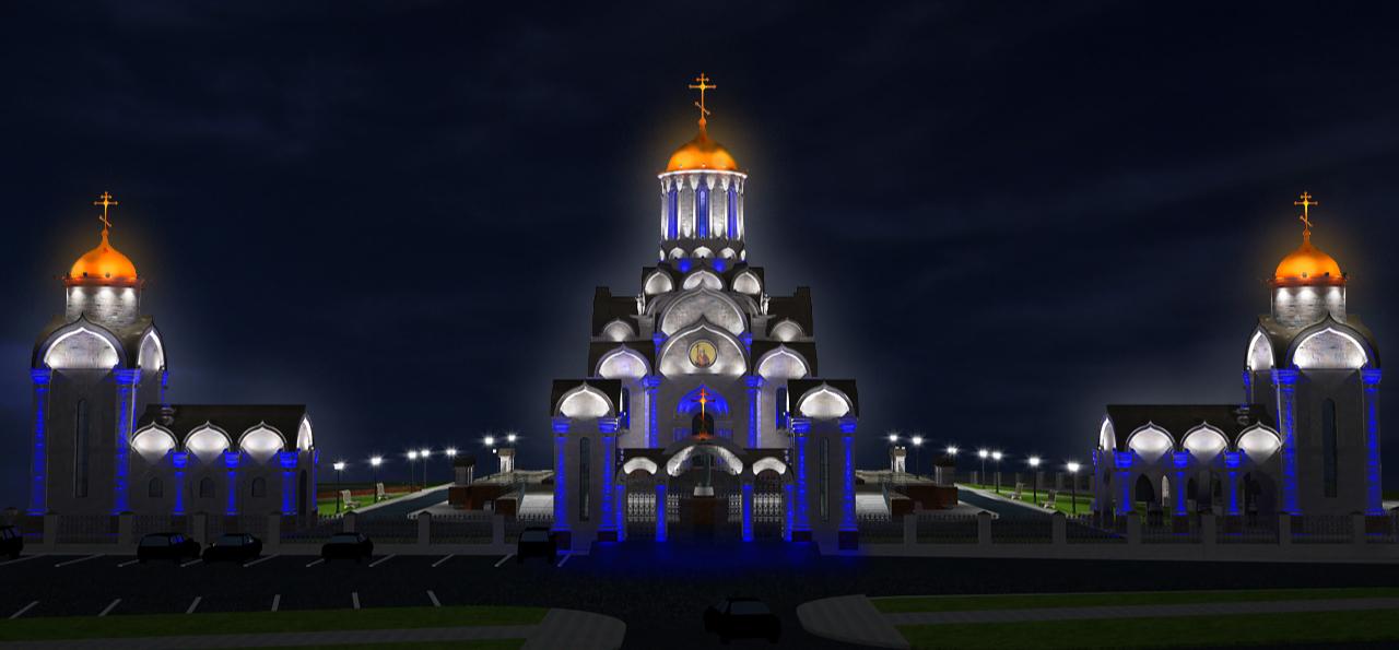 Площадь при соборе г. Уфа