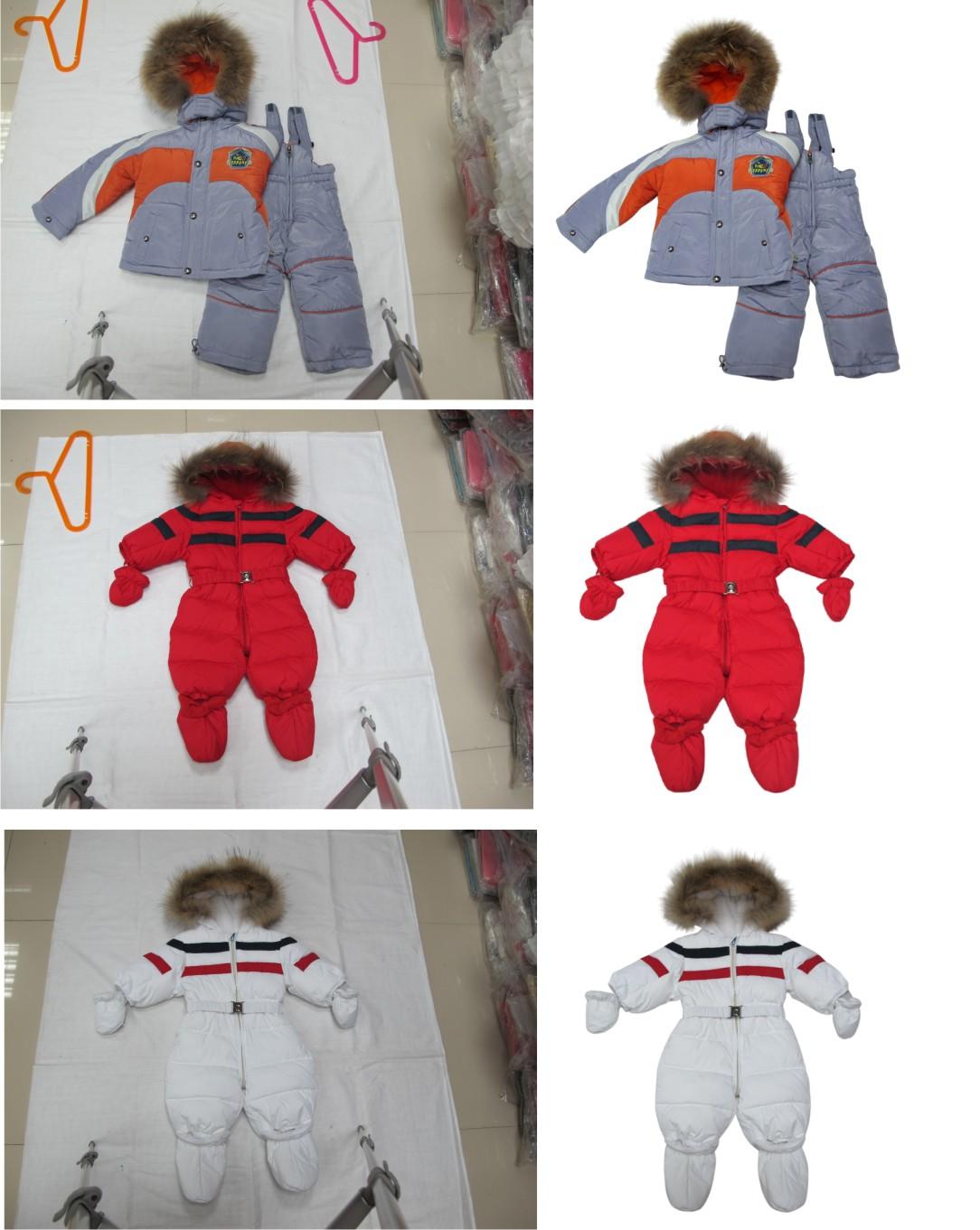 обтравка пушистых курток для интернет-магазина